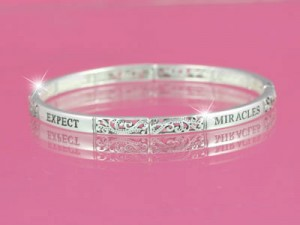 Maureen's Hope Foundation- Expect Miracles Silver Stackable