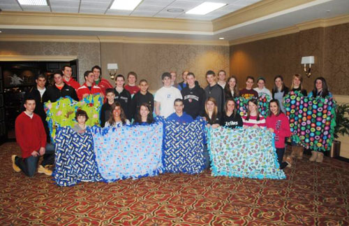 Maureen's Hope Foundation- Youth Club Making Blankets For Baskets