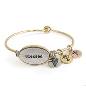 Blessed Bangle with Charms